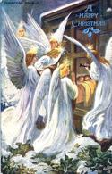 ANGELS - A HAPPY CHRISTMAS - TUCKS  P12 - Angels