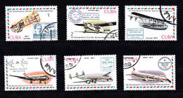 Cuba 1977 Mi Nr 2248 - 2253, 50 Jaar Luchtpostvervoer, Airplane - Cuba