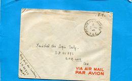 Marcophilie- Guerre-Indochine-lettre F M-sp 50724 Dalat -1947+> SP 62373 T O E-BMP 405 - Marcophilie (Lettres)