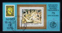 Cuba 1979 Mi Nr Blok 2396,  PHILASERDICA 1979, Schilderij Van Jules Pascin - Cuba