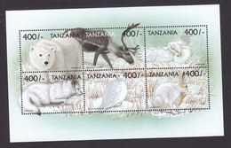 Tanzania, Scott #2012, 2014, Mint Never Hinged, Flora And Fauna, Issued 1999 - Tanzania (1964-...)