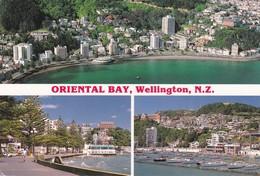 Postcard Oriental Bay Wellington New Zealand [ Tiki Cards ] My Ref B22285 - New Zealand