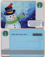 Starbucks - UK - 2016 - CN 6128 3763 Snowman - Gift Cards