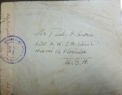 L) 1940 PERSIA, MINISTRY OF JUSTICE, SCOTT A65, 50D, GREEN, ARCHITECTURE, CIRCULATED COVER FROM PERSIA TO USA - Iran