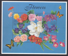 Tanzania, Scott #2024-2025, Mint Never Hinged, Flowers, Issued 1999 - Tanzania (1964-...)