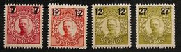 SWEDEN SVERIGE 1918 - King GUSTAV V - (NW VALUES) 4 Var. Mi 109,110,111,113 MNH ** Cv€3,80 J736 - Suède