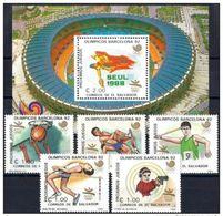Olympische Spelen  1988 , El Salvador -  Blok + Zegels Postfris - Summer 1988: Seoul