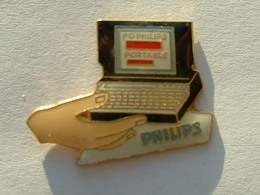 PIN'S PC PORTABLE PHILIPS - Informatique