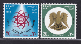 EGYPTE N°  893 & 894 ** MNH Neufs Sans Charnière, TB (D5063) Emblème Des Sciences, Armoiries - Egypt