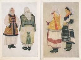 LOT  7 Cartes Zdenka Sertic ( Format 16 X 10,5 Cm ) Costumes ZAGREB Bistra Resnik Sestine Vukomerec Brezovica Stupnik - Croatia