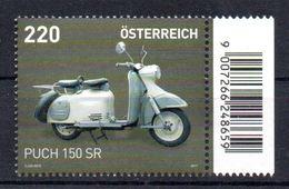 Österreich,Austria 2017, PUCH 150 SR, Motorrad,Roller,Bike,Motorcycle, 3342 Postfrisch - 2011-... Unused Stamps