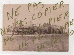 Photo Originale XIX ème Train Loco La Parisienne En Gare De CIVRY Saint CLOUD En 1889 TOP Rare - Trains
