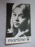 CPM CBS Martine HAVET Dédicacée Autographe De La Chanteuse Sixties Née Le 28 Mai 1947 à Champlan - EUROVISION - Musik Und Musikanten