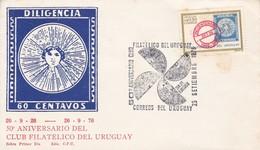 FDC - 50 ANIVERSARIO CLUB FILATELICO DEL URUGUAY.-URUGUAY-TBE-BLEUP - Uruguay