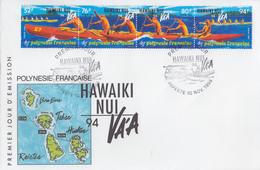 Enveloppe  FDC  1er  Jour   POLYNESIE   Course  De  Pirogues  En   Haute  Mer   1994 - FDC