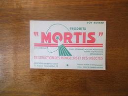 """MONTREUIL SOUS BOIS PRODUITS """"MORTIS"""" DESTRUCTION DES RONGEURS ET DES INSECTES - Buvards, Protège-cahiers Illustrés"""