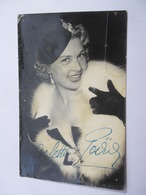 Carte Photo Actrice Arlette POIRIER Autographe De L'artiste - Georges Henri Photographe - Autographs