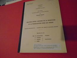 Lorraine, Vosges, Géologie : RELATION ENTRE HISTOIRE DE LA VEGETATION ET PODZOLISATION DANS LES VOSGES 1972 B.GUILLET - Lorraine - Vosges