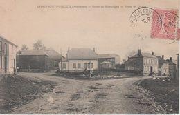 CPA Chaumont-Porcien - Route De Rocquigny - Route De Draize - France