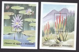 Tanzania, Scott #2038-2039, Mint Hinged, Flowers, Issued 1999 - Tanzania (1964-...)