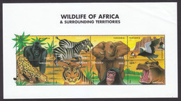 Tanzania, Scott #2040, Mint Never Hinged, African Wildlife, Issued 1999 - Tanzanie (1964-...)