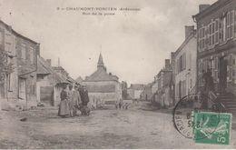 CPA Chaumont-Porcien - Rue De La Poste (avec Très Jolie Animation) - France