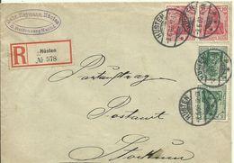 1907  Einschreiben Von Hüsten Nach Stockum - Covers & Documents