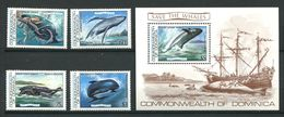 220 DOMINQUE 1983 - Yvert 759/62 BF 81 - Mammifere Marin - Neuf **(MNH) Sans Charniere - Dominica (1978-...)