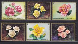 UM AL QIWAIN POSTES & AERIENS ** MNH Neufs Sans Charnière, 6 Valeurs, TB (D5067) Fleurs, Roses - Umm Al-Qiwain