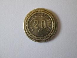 French Token/jeton Bon Pour Consommer 20 Centimes-depose Zimberlin - France