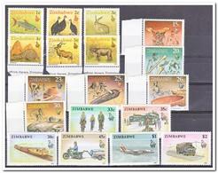 Zimbabwe 1990, Postfris MNH, Animals, Arts And Crafts, Transportation - Zimbabwe (1980-...)