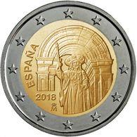"""ESPAÑA /  SPAIN  2 Euros Bimetálica """"Casco Antiguo De Santiago De Compostela"""" 2.018  2018  SC/UNC   T-DL-12.171 - Spain"""