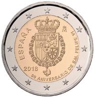 """ESPAÑA /  SPAIN  2 Euros  """" 50 Aniversario De Su Majestad El Rey Don Felipe VI""""  2.018  2018  SC/UNC   T-DL-12.172 - Spain"""