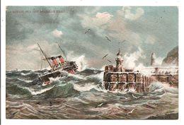 A Rough Sea Off Douglas Head - Grosvenor Series Post CarT 53 - Isle Of Man