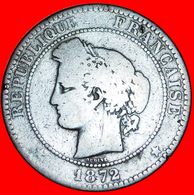 √ CERES: FRANCE ★ 10 CENTIMES 1872A! LOW START ★ NO RESERVE! Type 1870-1898 - France