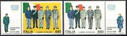 ITALIA - 1986 - INCONTRO A CHIANCIANO DEI CORPI DI POLIZIA EUROPEI - NUOVI MNH - 1946-.. Republiek