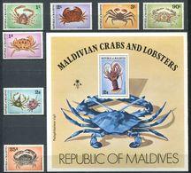 220 MALDIVES 1978 - Yvert 720/26 BF 50 - Crustace Crabe - Neuf **(MNH) Sans Charniere - Maldives (1965-...)