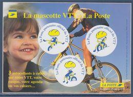 = Autocollants La Mascotte VTT De La Poste, Partenaire Officiel, - Post