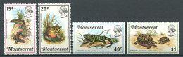 220 MONTSERRAT 1972 - Yvert 278/81 - Grenouille Serpent Lezard - Neuf **(MNH) Sans Charniere - Montserrat