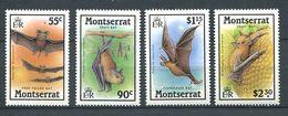 220 MONTSERRAT 1988 - Yvert 665/68 - Chauve Souris - Neuf **(MNH) Sans Charniere - Montserrat