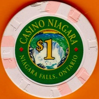 $1 Casino Chip. Casino Niagara, Ontario, Canada. K45. - Casino