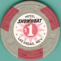 $1 Casino Chip. Showboat, Las Vegas, NV. K45. - Casino