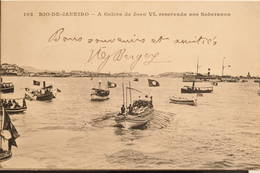 Rio-de-Janeiro, 1905, A Galera De Joao VI, Reservada Aos Soberanos, Animée - Rio De Janeiro