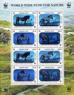 Pferde 2000 Mongolei 3126/9 8-KB ** 10€ Hologramm-Briefmarken Przewalski-Pferd WWF Blocs Horse Sheetlet Bf Mongolia - Holograms