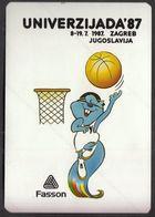 Yugoslavia Croatia Zagreb 1987 / Basketball / Sticker, Label / University Games / UNIVERZIJADA '87 / Mascot ZAGI - Apparel, Souvenirs & Other