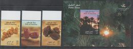 PALESTINE , 2017, MNH, DATES, TREES, 4v+S/SHEET - Fruits
