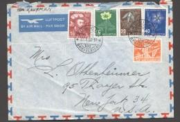 1950  Lettre Aérienne  Pour Les USA Zum  129-132 - Pro Juventute