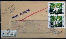 1972 , LIBANO , SOBRE CERTIFICADO ENTRE BEIRUT Y MILÁN , DIVERSAS MARCAS , LLEGADA - Lebanon