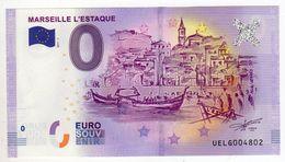 2017-1 BILLET TOURISTIQUE 0 EURO SOUVENIR N°UELG004802 MARSEILLE L'ESTAQUE BT épuisé - EURO