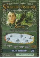 TICKET DE JEU A GRATTER SAGA - FRANCAISE DES JEUX - LE SEIGNEUR DES ANNEAUX - THE LORD OF THE RINGS - Lottery Tickets